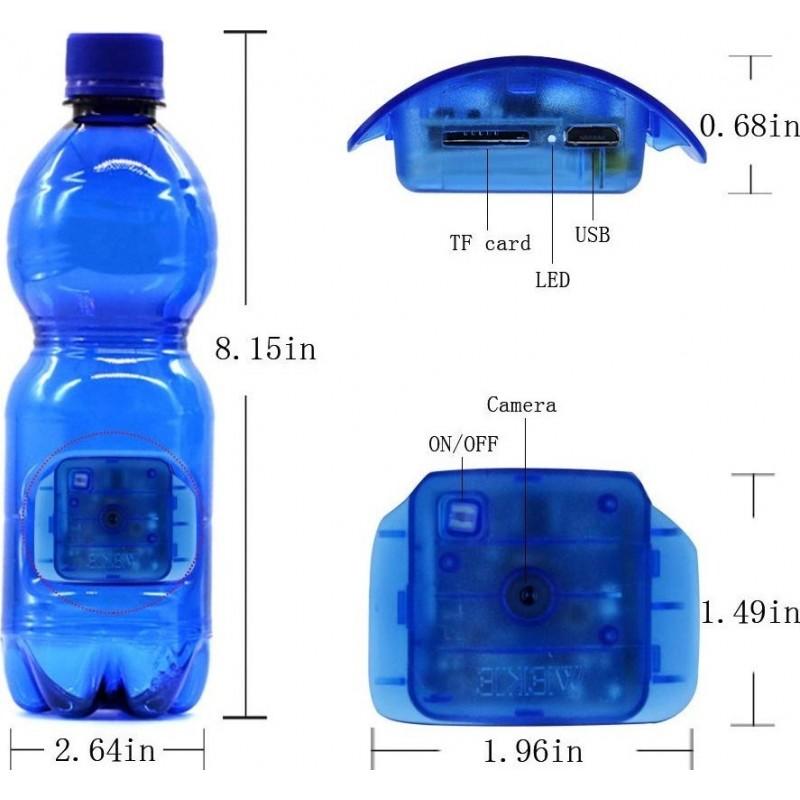 22,95 € Envoi gratuit | Autres Caméras Espion Caméra portable espion. Bouteille bleue. Détection de mouvement. 1080p HD