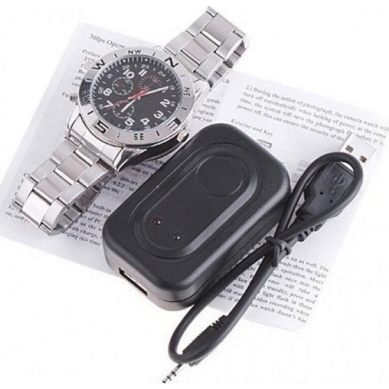 48,95 € Free Shipping   Watch Hidden Cameras Spy cam. HD spy clock. 1280x960. 4GB. DVR camera