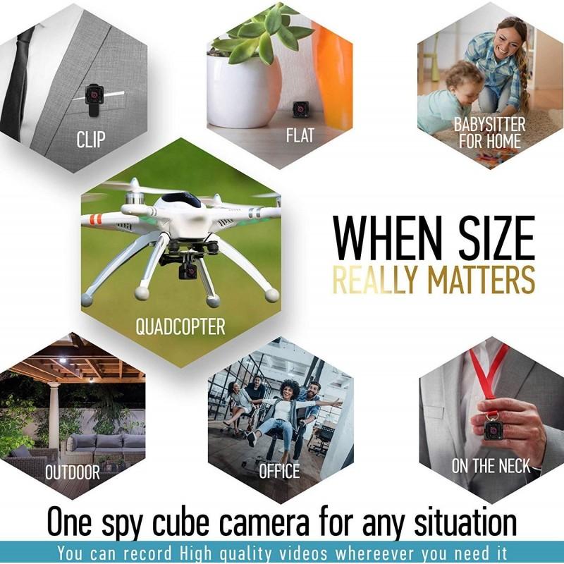 41,95 € Бесплатная доставка   Другие скрытые камеры Мини шпионская камера. 1080P. Скрытая портативная HD-камера. Ночное видение. Определение движения. Няня Cam