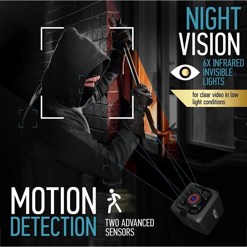 41,95 € Free Shipping   Other Hidden Cameras Mini Spy Camera. 1080P. Hidden Portable HD Camera. Night Vision. Motion Detection. Nanny Cam