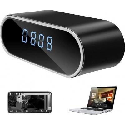 57,95 € 送料無料   時計隠しカメラ 隠しスパイカメラ時計。 HD 1080P。 Wi-Fi。目覚まし時計。夜間視力。モーション検出。ループ・レコーディング