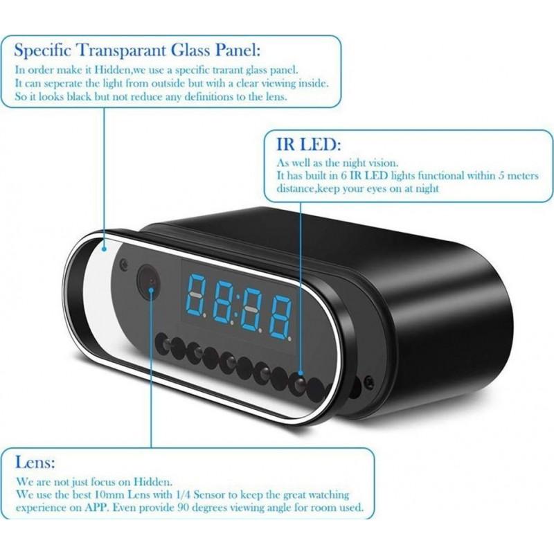 57,95 € Kostenloser Versand | Uhren mit versteckten Kameras Versteckte Spy Camera Uhr. HD 1080P. W-lan. Wecker. Nachtsicht. Bewegungserkennung. Daueraufnahme