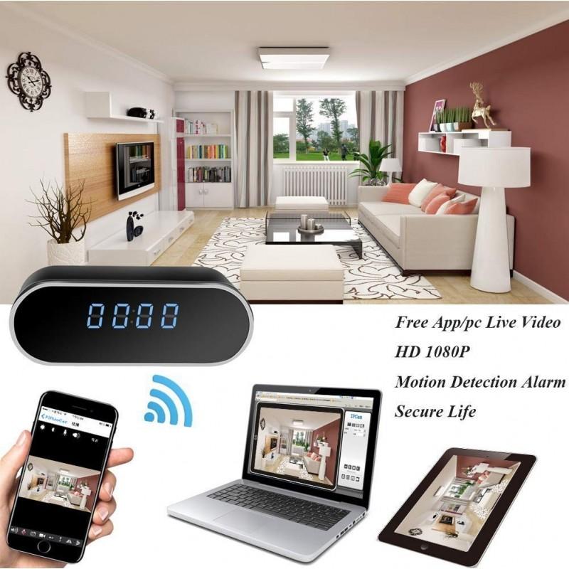 57,95 € Envoi gratuit | Montres Espion Horloge caméra cachée espion. HD 1080P. Wifi. Réveil. Vision nocturne. Détection de mouvement. Enregistrement en boucle