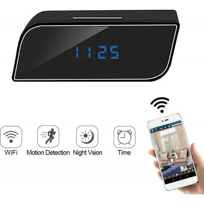 49,95 € Free Shipping | Clock Hidden Cameras Mini Camera. 1080P. WiFi. Alarm Clock Camera. Nanny Camera. IR Night Vision