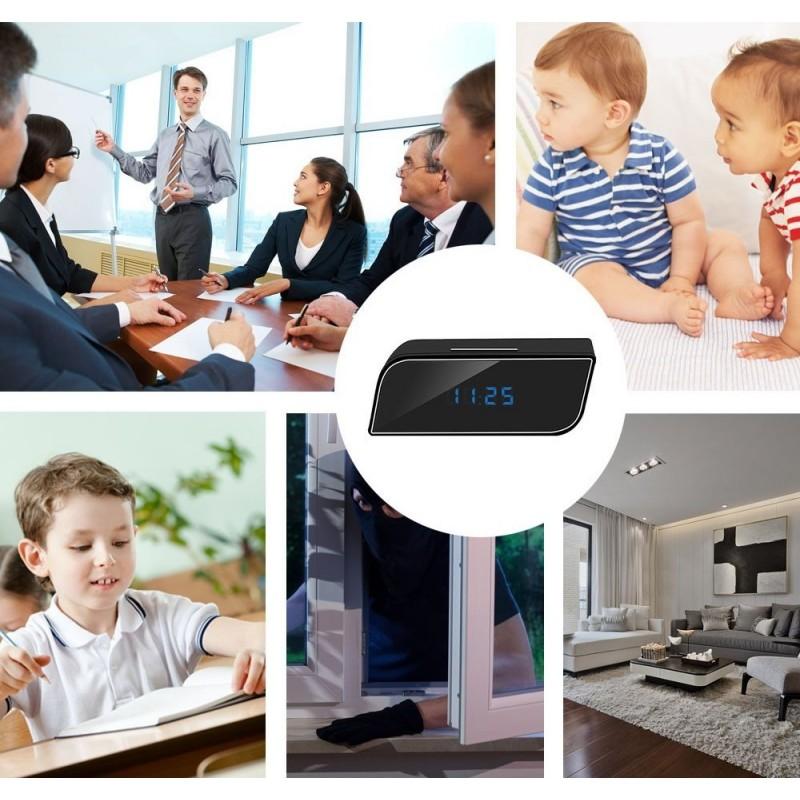 49,95 € Envoi gratuit   Montres Espion Mini caméra. 1080P. Wifi. Caméra réveil. Caméra de nounou. Vision nocturne IR