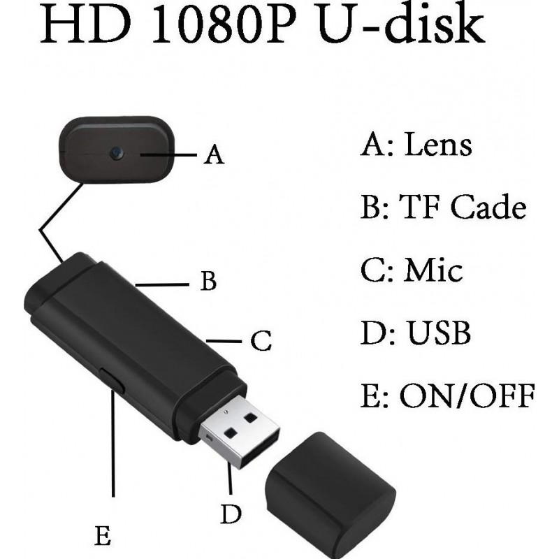 41,95 € Бесплатная доставка | USB-накопители Spy USB-шпион Ключ. Mini USB Flash Drive. Видеокамера HD. 1080P. 8GB. Микро-видео рекордер со звуком