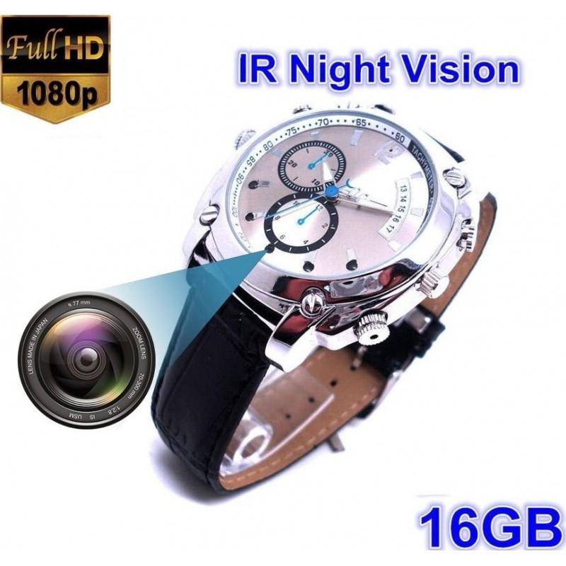 Montres à Bracelet Espion Montre caméra multifonction espion. 16G. HAUTE DÉFINITION. 1080P. Vision nocturne. Rechargeable. Opération facile