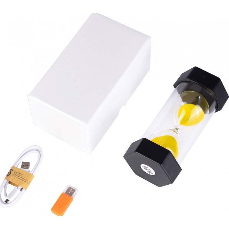 56,95 € 免费送货   隐藏的间谍配件 带有间谍相机的沙钟。高清1080P。隐藏的相机。夜视功能(带16G卡)