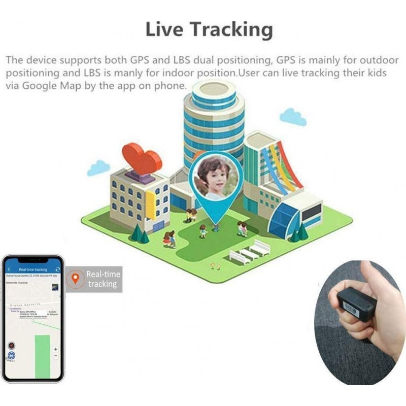 57,95 € Free Shipping | Hidden Spy Accessories Mini GPS locator. Anti-Theft. Real Time Tracking. App. Anti-Lost. Tracking Device