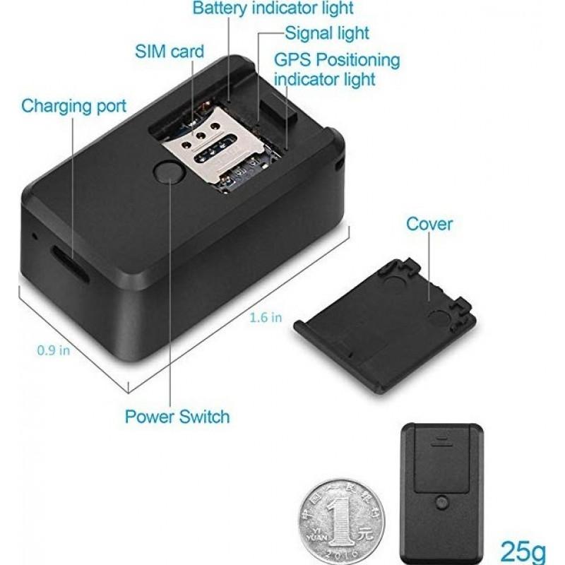 41,95 € Envio grátis | Outras Câmeras Espiã Rastreador de localização. GPS. Portátil. SOS. 2G. Tempo real. Magnético. Veículos. Kids. Animais de estimação