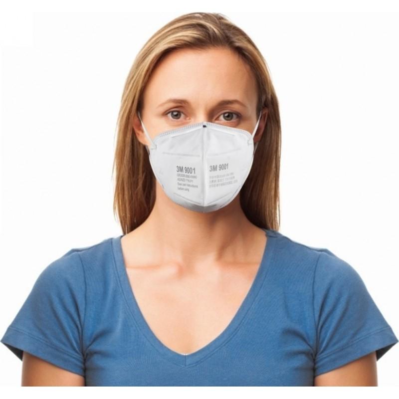 159,95 € 免费送货 | 盒装50个 呼吸防护面罩 3M 型号9001。FFP1KN90。呼吸防护面罩。折叠式防尘口罩。 PM2.5。防雾面罩。安全面罩