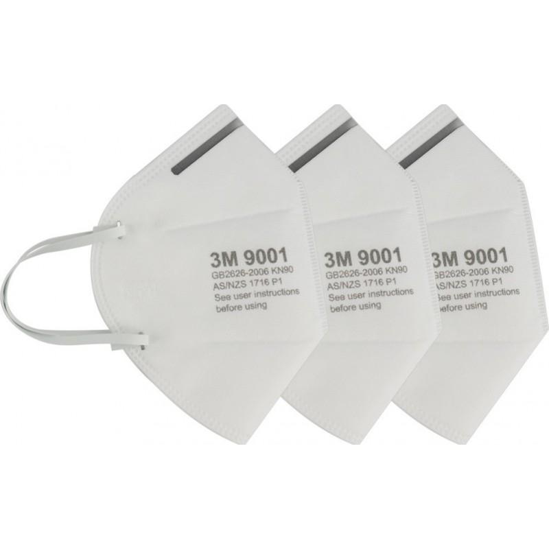 279,95 € 免费送货 | 盒装100个 呼吸防护面罩 3M 型号9001。FFP1KN90。呼吸防护面罩。折叠式防尘口罩。 PM2.5。防雾面罩。安全面罩