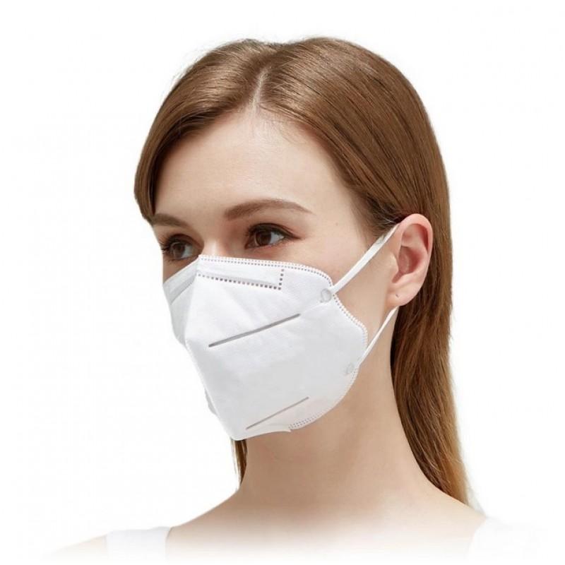 Caixa de 50 unidades Máscaras Proteção Respiratória Filtragem KN95 a 95%. Máscara de proteção respiratória. PM2.5. Proteção de cinco camadas. Vírus e bactérias anti-infecções