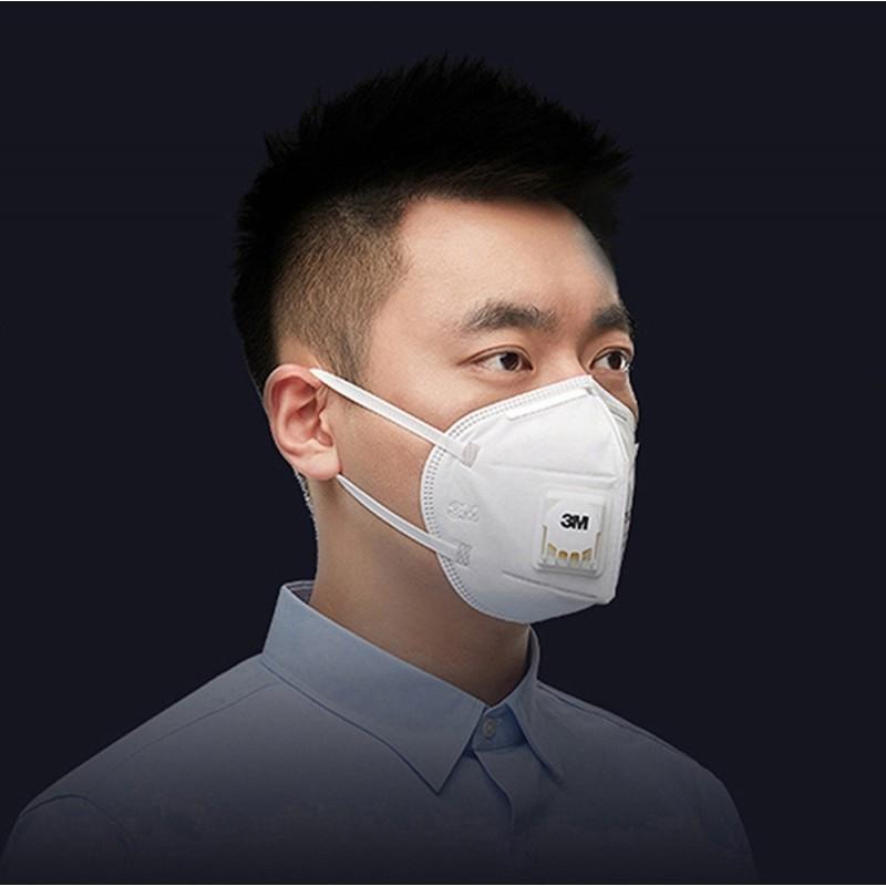 89,95 € Spedizione Gratuita | Scatola da 10 unità Maschere Protezione Respiratorie 3M 9501V+ KN95 FFP2. Maschera di protezione delle vie respiratorie con valvola. PM2.5 Respiratore con filtro antiparticolato