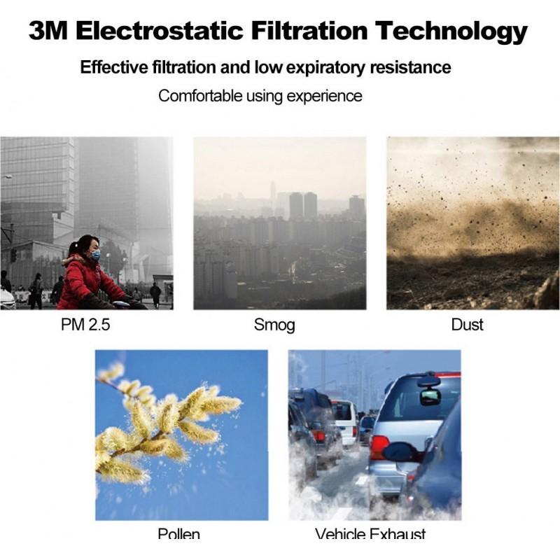 105,95 € 送料無料 | 10個入りボックス 呼吸保護マスク 3M 9501V+ KN95 FFP2。バルブ付き呼吸保護マスク。 PM2.5粒子フィルターマスク