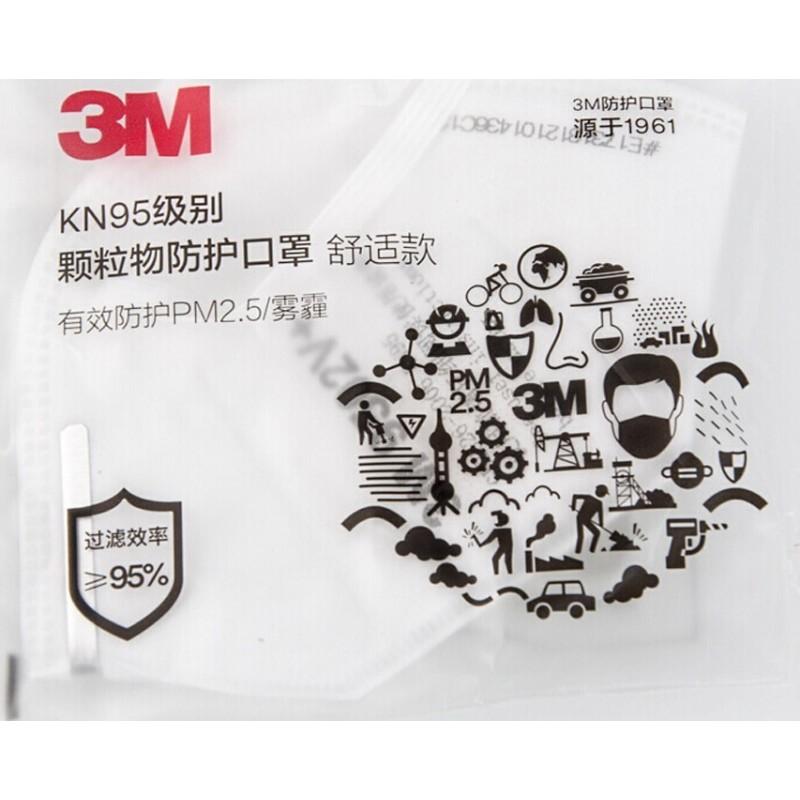 89,95 € Бесплатная доставка | Коробка из 10 единиц Респираторные защитные маски 3M 9501V+ KN95 FFP2. Респираторная защитная маска с клапаном. PM2.5 Респиратор с фильтром частиц