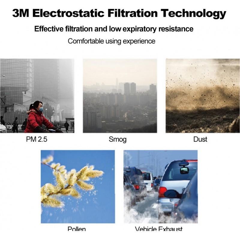 349,95 € Envio grátis | Caixa de 50 unidades Máscaras Proteção Respiratória 3M 9501V KN95 FFP2. Máscara respiratória de proteção contra partículas com válvula PM2.5. Respirador com filtro de partículas