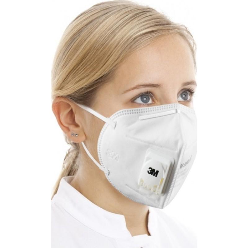 349,95 € Spedizione Gratuita | Scatola da 50 unità Maschere Protezione Respiratorie 3M 9501V KN95 FFP2. Maschera respiratoria protettiva antiparticolato con valvola PM2.5. Respiratore con filtro antiparticolato