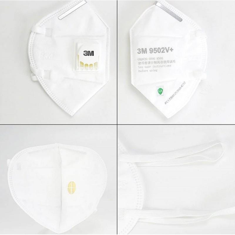 89,95 € Spedizione Gratuita | Scatola da 10 unità Maschere Protezione Respiratorie 3M 3M 9502V+ KN95 FFP2 Maschera di protezione delle vie respiratorie con valvola. PM2.5 Respiratore con filtro antiparticolato