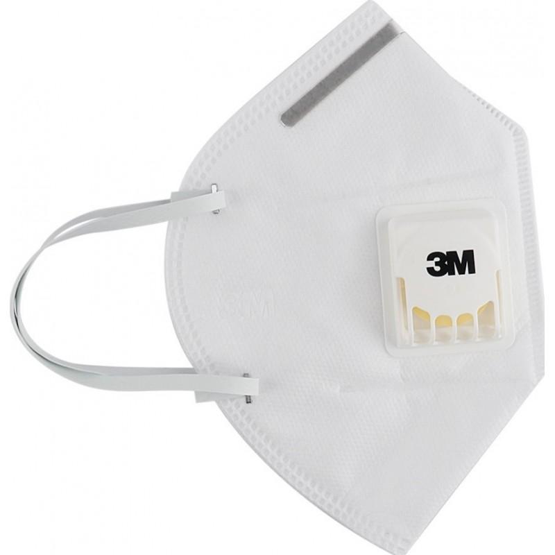 159,95 € Envio grátis | Caixa de 20 unidades Máscaras Proteção Respiratória 3M 3M 9502V+ KN95 FFP2 Máscara de proteção respiratória com válvula. Respirador com filtro de partículas PM2.5