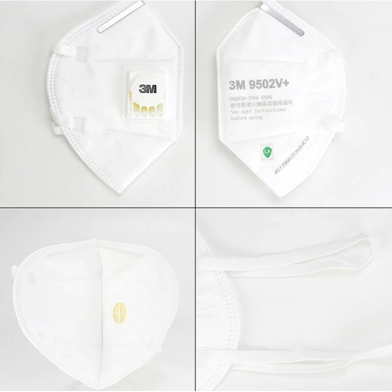 159,95 € Envoi gratuit | Boîte de 20 unités Masques Protection Respiratoire 3M 3M 9502V+ KN95 FFP2 Masque de protection respiratoire avec valve. Respirateur à filtre à particules PM2.5