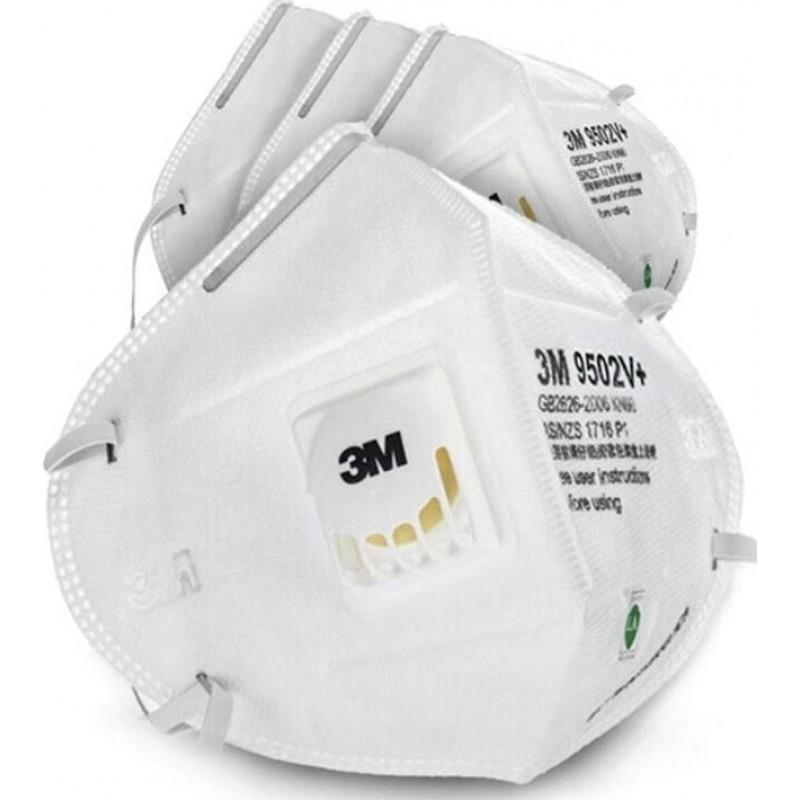 159,95 € Бесплатная доставка | Коробка из 20 единиц Респираторные защитные маски 3M 3M 9502V+ KN95 FFP2 Респираторная защитная маска с клапаном. PM2.5 Респиратор с фильтром частиц