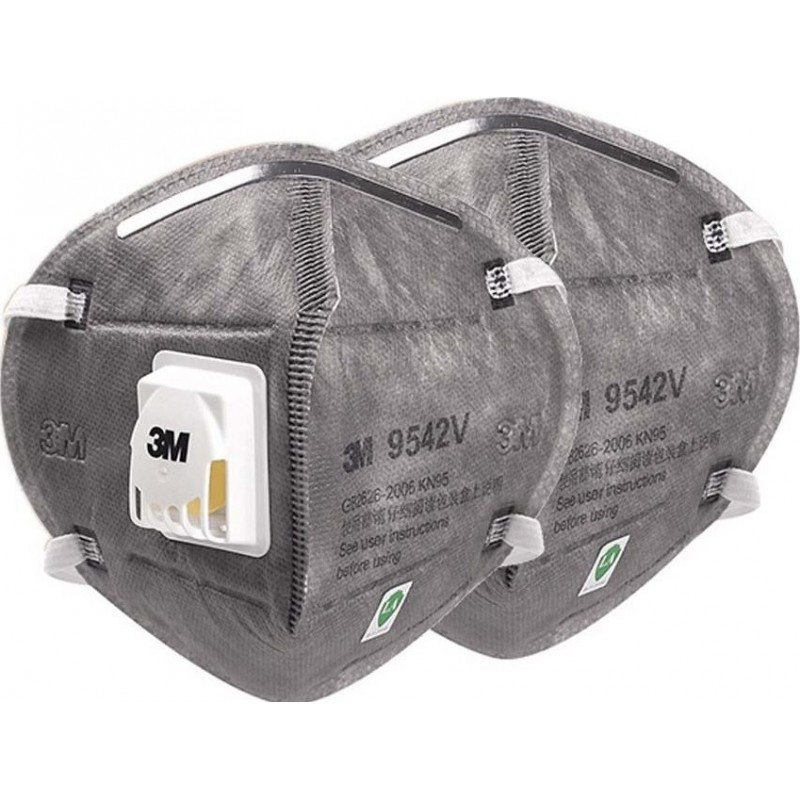 685,95 € Free Shipping | 100 units box Respiratory Protection Masks 3M 9542V KN95 FFP2. Respiratory protection mask with valve. PM2.5 Particle filter respirator