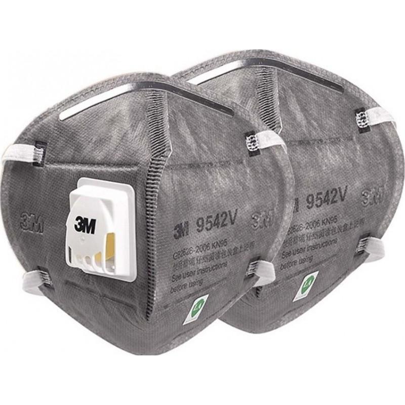 599,95 € Spedizione Gratuita | Scatola da 100 unità Maschere Protezione Respiratorie 3M 9542V KN95 FFP2. Maschera di protezione delle vie respiratorie con valvola. PM2.5 Respiratore con filtro antiparticolato