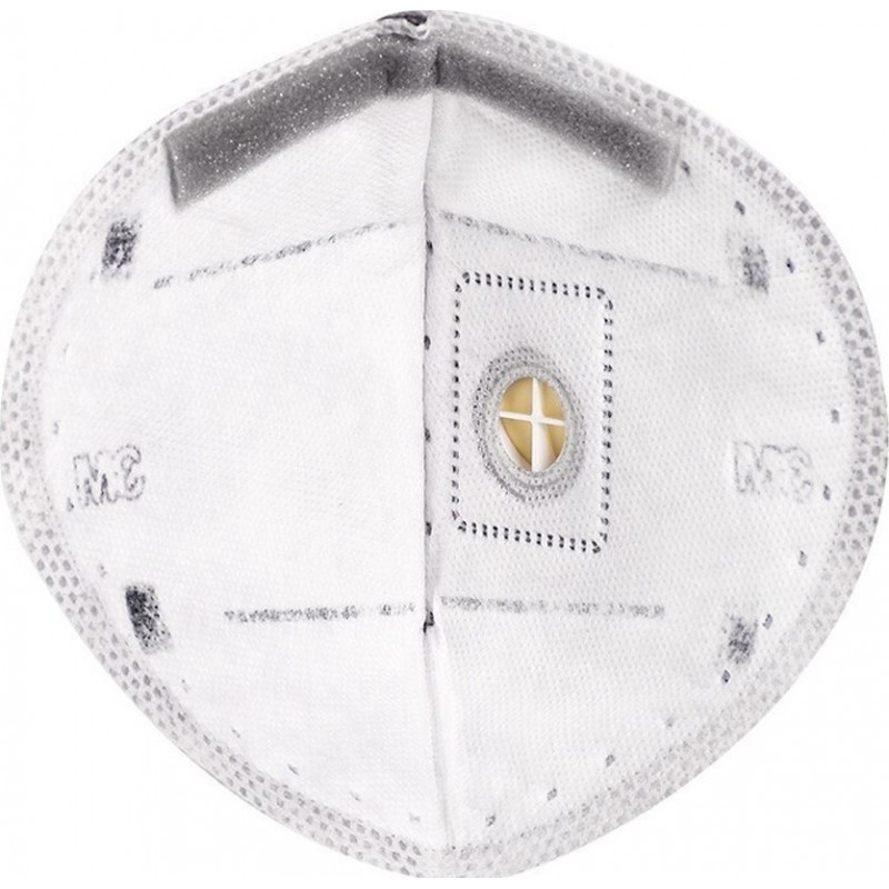 599,95 € Envio grátis | Caixa de 100 unidades Máscaras Proteção Respiratória 3M 9542V KN95 FFP2. Máscara de proteção respiratória com válvula. Respirador com filtro de partículas PM2.5