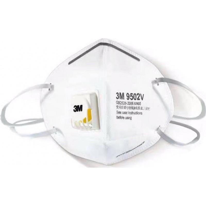 89,95 € Envio grátis | Caixa de 10 unidades Máscaras Proteção Respiratória 3M 9502V KN95 FFP2. Máscara de proteção respiratória com válvula. Respirador com filtro de partículas PM2.5