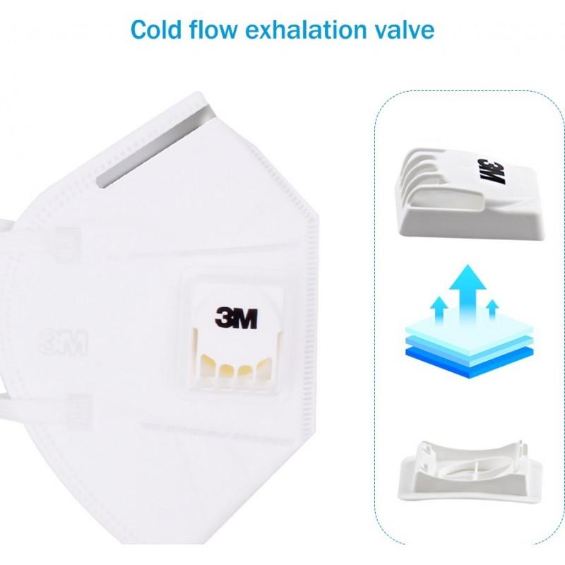 89,95 € 送料無料 | 10個入りボックス 呼吸保護マスク 3M 9502V KN95 FFP2。バルブ付き呼吸保護マスク。 PM2.5粒子フィルターマスク