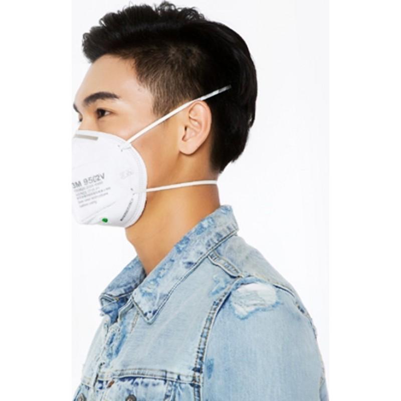 159,95 € Бесплатная доставка | Коробка из 20 единиц Респираторные защитные маски 3M 9502V KN95 FFP2. Респираторная защитная маска с клапаном. PM2.5 Респиратор с фильтром частиц
