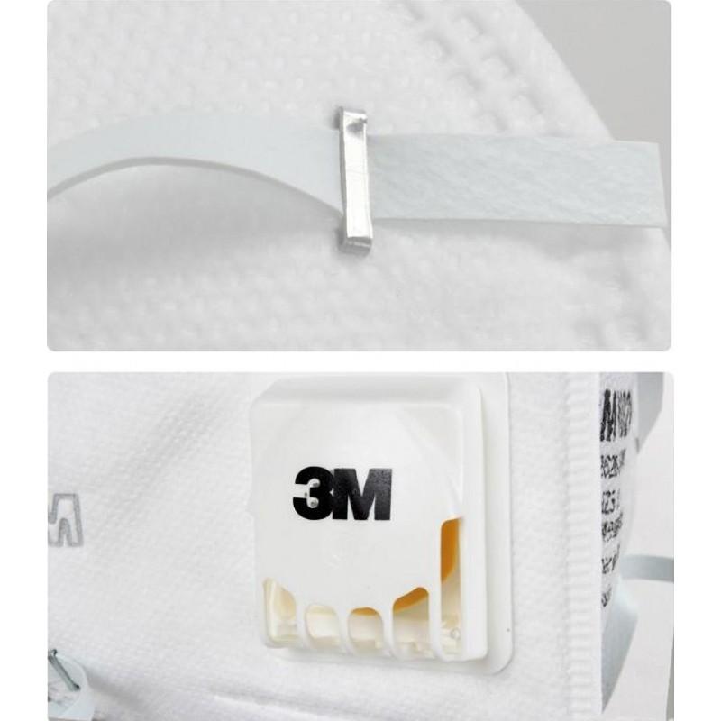349,95 € Spedizione Gratuita | Scatola da 50 unità Maschere Protezione Respiratorie 3M 9502V KN95 FFP2. Maschera di protezione delle vie respiratorie con valvola. PM2.5 Respiratore con filtro antiparticolato