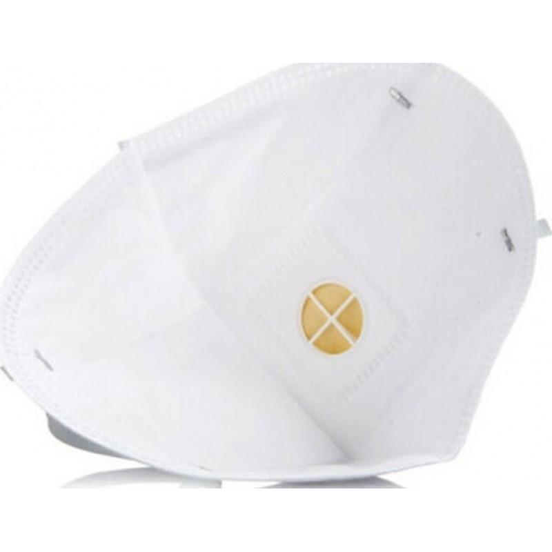 349,95 € 免费送货 | 盒装50个 呼吸防护面罩 3M 9502V KN95 FFP2。带阀门的呼吸防护面罩。 PM2.5颗粒过滤式防毒面具