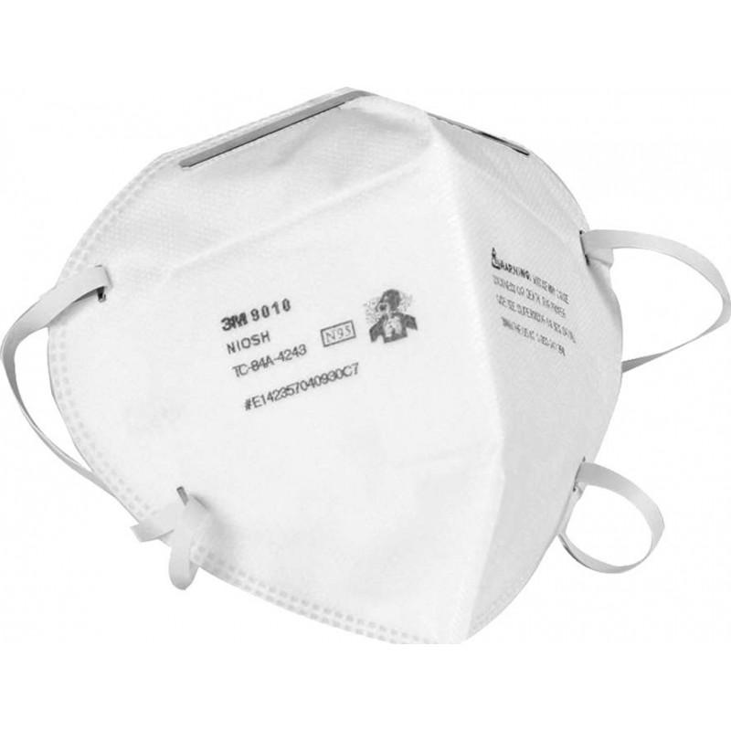 139,95 € Spedizione Gratuita | Scatola da 10 unità Maschere Protezione Respiratorie 3M 9010 N95 FFP2. Maschera di protezione delle vie respiratorie. Respiratore con filtro antiparticolato. PM2.5