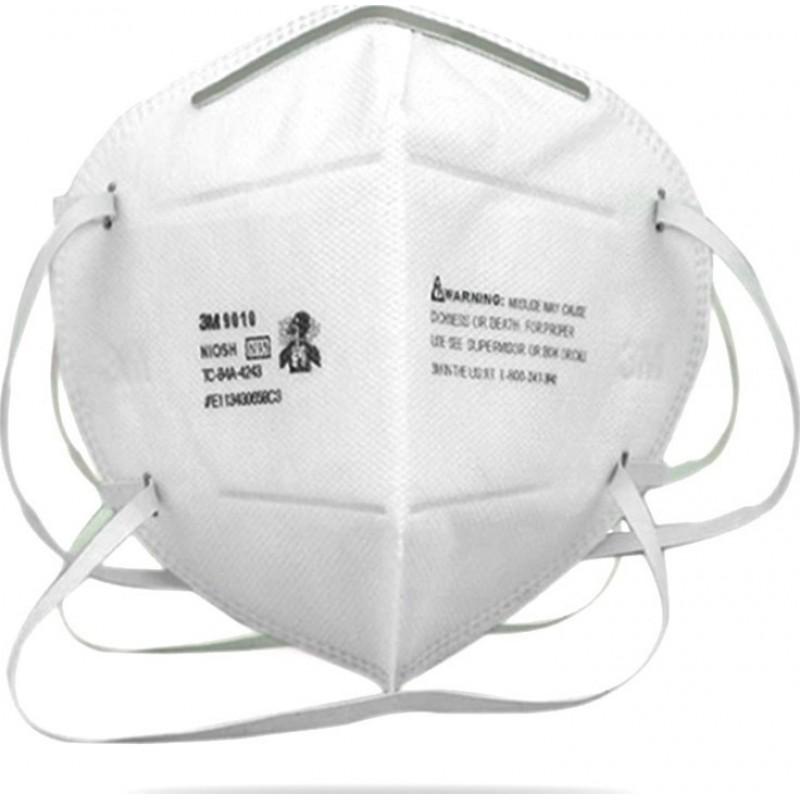 129,95 € 送料無料 | 10個入りボックス 呼吸保護マスク 3M 9010 N95 FFP2。呼吸保護マスク。 PM2.5汚染防止マスク。粒子フィルターマスク
