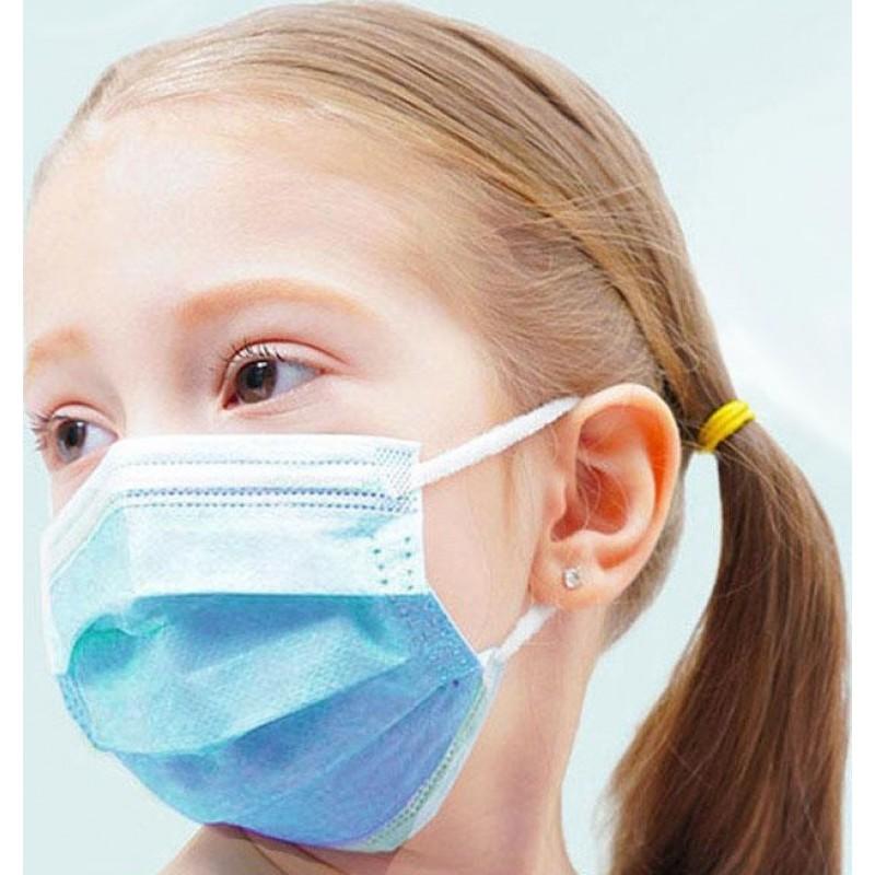 50 Einheiten Box Atemschutzmasken Einwegmaske für Kinder. Atemschutz. 3 Schicht. Anti-Grippe. Weich atmungsaktiv. Vliesmaterial. PM2.5