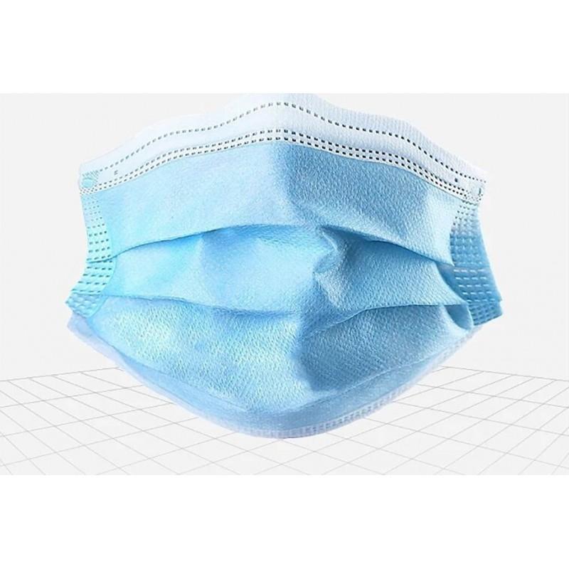 Caja de 50 unidades Mascarillas Protección Respiratoria Mascarilla desechable para niños. Protección respiratoria. 3 capas. Antigripal. Suave. Transpirable. Nonwoven material. PM2.5