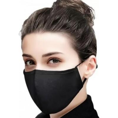 Caja de 10 unidades Color negro. Mascarilla de protección respiratoria reutilizable con 100 piezas de filtros de carbón
