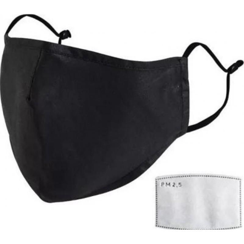 10個入りボックス 呼吸保護マスク 黒色。 100個の木炭フィルターが付いている再使用可能な呼吸保護マスク