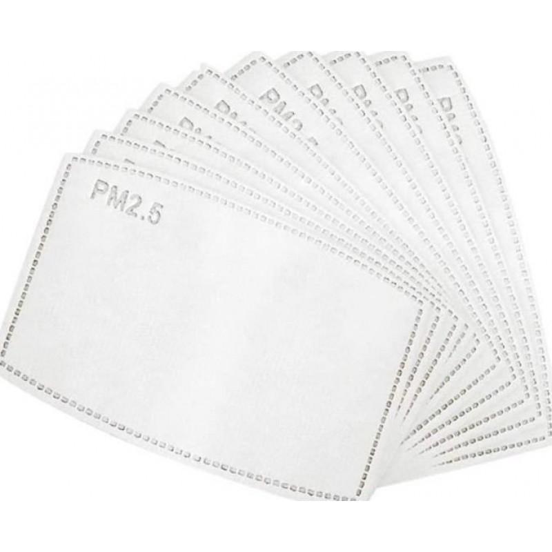 Boîte de 10 unités Masques Protection Respiratoire Couleur noire. Masques de protection respiratoire réutilisables avec 100 filtres à charbon