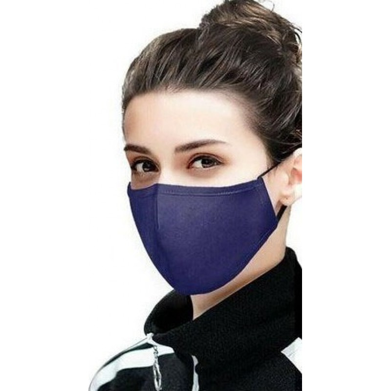Boîte de 5 unités Masques Protection Respiratoire Couleur bleue. Masques de protection respiratoire réutilisables avec 50 filtres à charbon