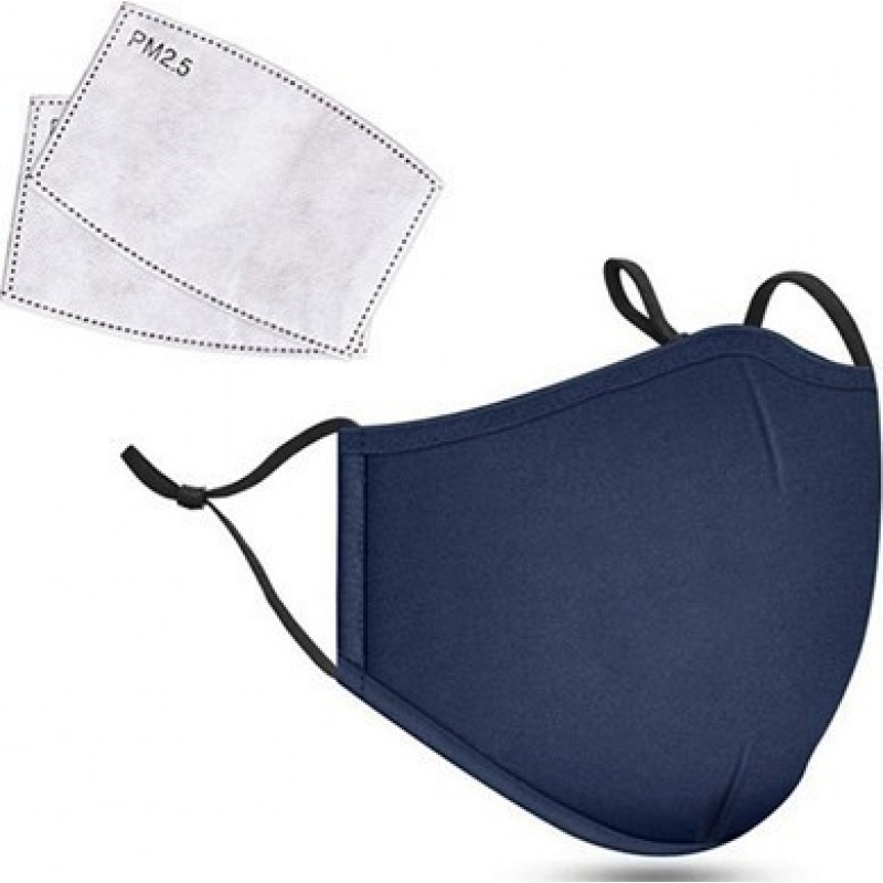 5 units box Respiratory Protection Masks Blue color. Reusable Respiratory Protection Masks With 50 pcs Charcoal Filters