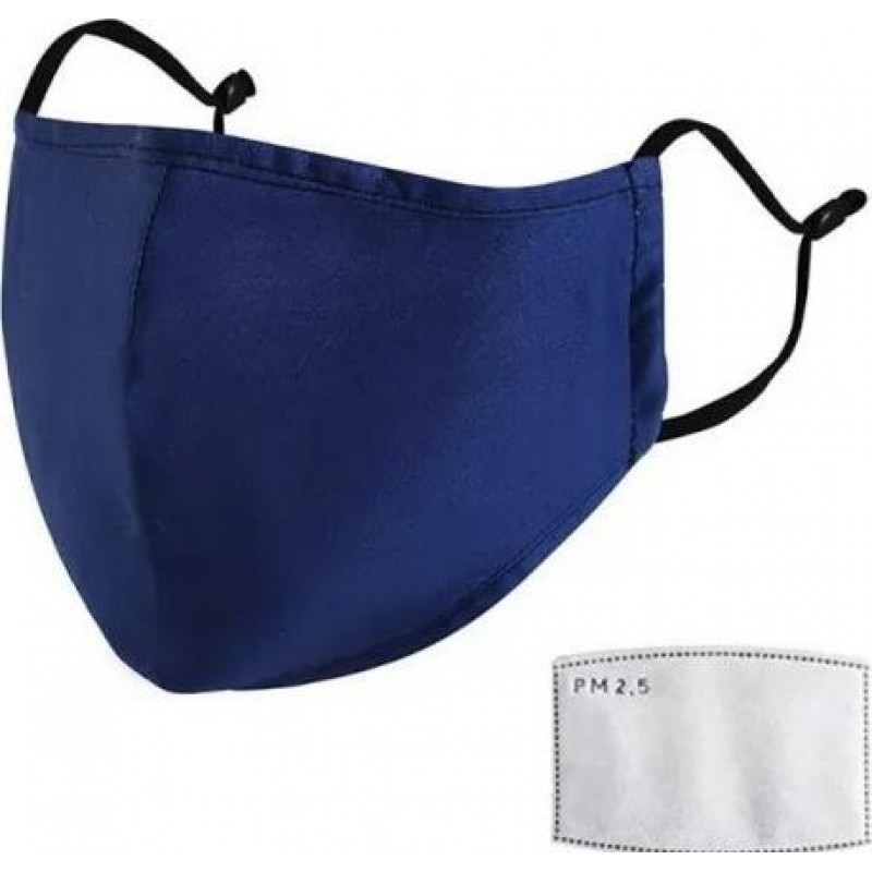 10 units box Respiratory Protection Masks Blue color. Reusable Respiratory Protection Masks With 100 pcs Charcoal Filters