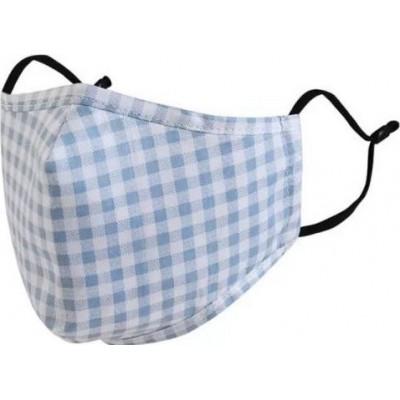 Boîte de 5 unités Motif en treillis. Masques de protection respiratoire réutilisables avec 50 filtres à charbon