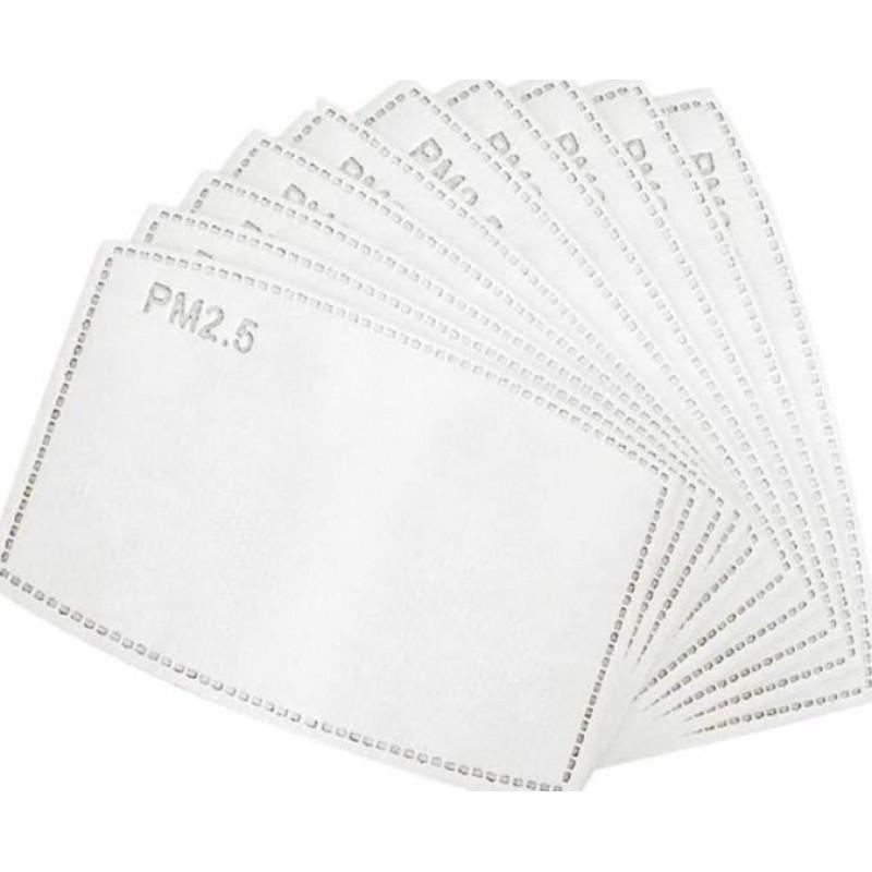 Boîte de 5 unités Masques Protection Respiratoire Motif en treillis. Masques de protection respiratoire réutilisables avec 50 filtres à charbon