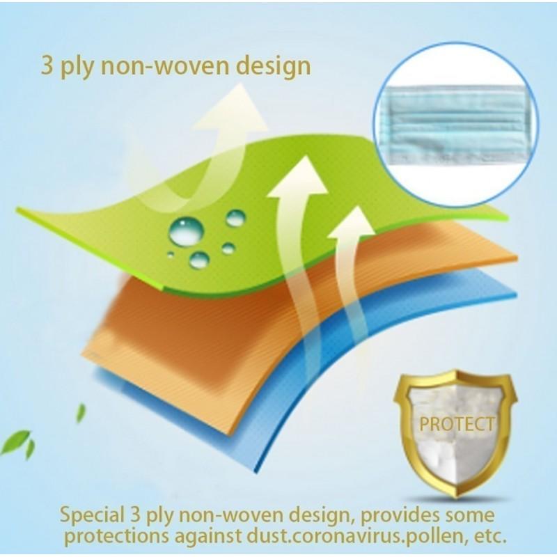 99,95 € Envoi gratuit | Boîte de 500 unités Masques Protection Respiratoire Masque jetable pour enfants. Protection respiratoire. 3 couches. Anti-grippe. Respirant doux. Matière non tissée. PM2,5