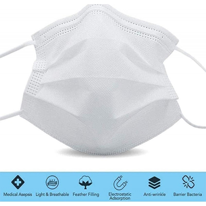 159,95 € Envio grátis   Caixa de 1000 unidades Máscaras Proteção Respiratória Máscara sanitária facial descartável. Proteção respiratória. Respirável com filtro de 3 camadas