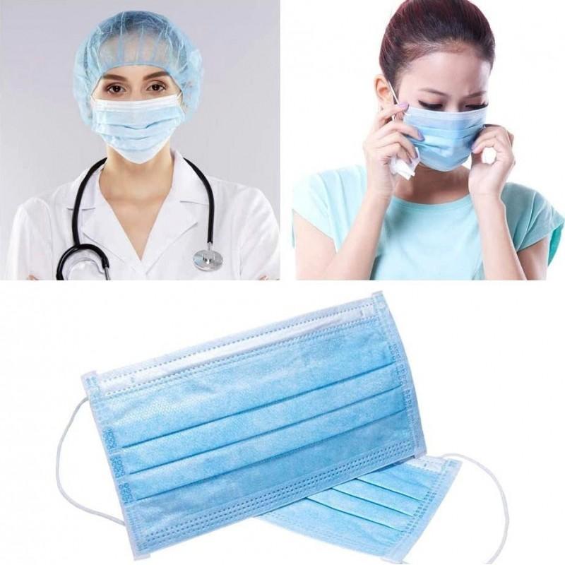 159,95 € Бесплатная доставка | Коробка из 1000 единиц Респираторные защитные маски Одноразовая гигиеническая маска для лица. Защита органов дыхания. Дышащий с 3-х слойным фильтром