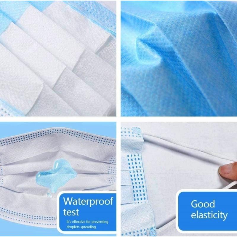 159,95 € Kostenloser Versand | 1000 Einheiten Box Atemschutzmasken Einweg-Hygienemaske für das Gesicht. Atemschutz. Atmungsaktiv mit 3-Lagen-Filter